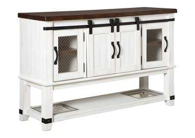 Valebeck White/Brown Dining Server