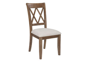 Narvilla Light Brown Dining Upholstered Side Chair (Set of 2)