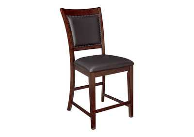 Image for Collenburg Dark Brown Upholstered Barstool (Set of 2)