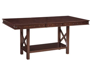 Collenburg Dark Brown Rectangular Dining Room Counter Extension Table
