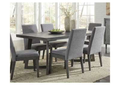 Image for Besteneer Dark Gray Rectangular Dining Room Table
