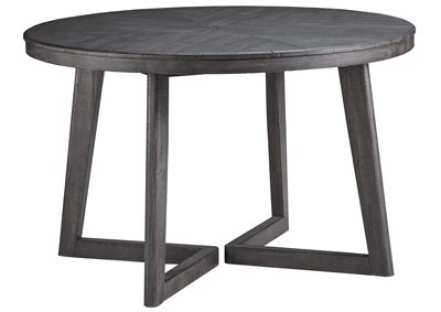 Besteneer Dark Gray Round Dining Room Table