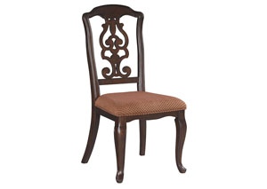 Gladdenville Brown Dining Upholstered Side Chair (Set of 2)