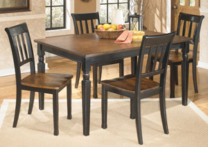 Owingsville Rectangular Dining Table w/ 4 Side Chairs