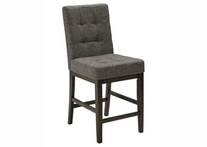 Chanella Dark Brown Upholstered Barstool (Set of 2)