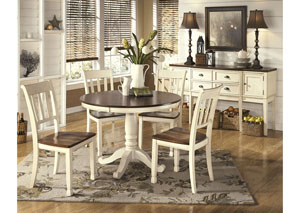 Whitesburg Brown/Cottage White Dining Table