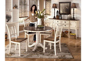 Image for Whitesburg Round Table & 4 Side Chairs