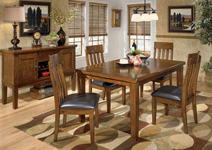 Image for Ralene Rectangular Extension Table w/ 4 Upholstered Side Chairs