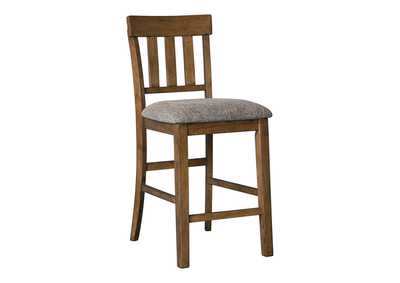 Image for Flaybern Brown Upholstered Barstool (2/CN)