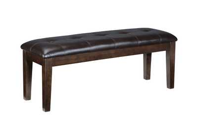 Image for Haddigan Dark Brown Large Upholstered Dining Room Bench
