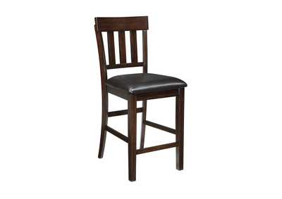 Haddigan Dark Brown Upholstered Barstool (Set of 2),Signature Design By Ashley