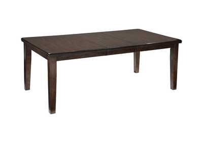 Haddigan Dark Brown Rectangle Dining Room Extension Table
