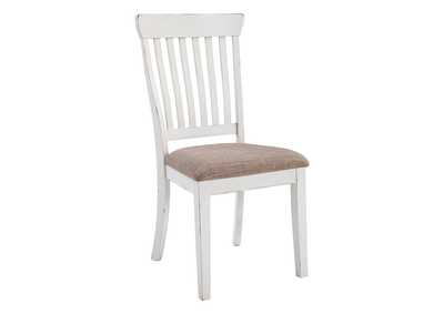 Danbeck Light Brown/White Dining UPH Side Chair (2/CN)