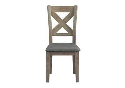 Aldwin Gray Upholstered Dining Chair (Set of 2)