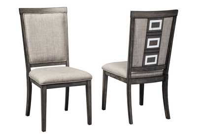 Chadoni Gray Upholstered Side Chair (Set of 2)
