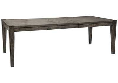 Chadoni Gray Rectangular Dining Room Extension Table