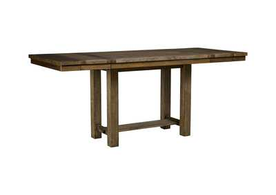 Moriville Gray Rectangular Dining Room Counter Extension Table