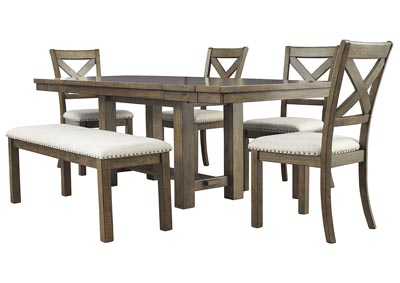 Image for Moriville Beige Dining Table w/4 Side Chairs & Bench