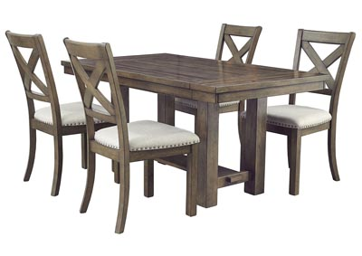 Image for Moriville Beige Dining Table w/4 Side Chairs