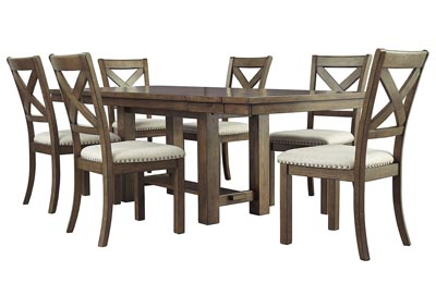 Image for Moriville Beige Dining Table w/6 Side Chairs