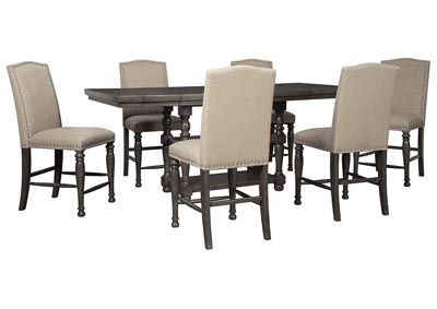 Audberry Dining Set w/6 Bar Stools
