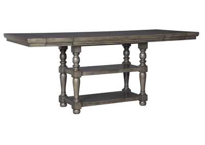 Audberry Dark Gray Rectangular Counter Extended Table