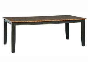 Quinley Two-Tone Brown Rectangular Dining Room Butterfly Extension Table