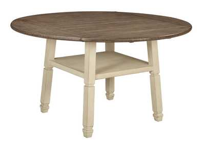 Image for Bolanburg Antique White Round Drop Leaf Counter Table