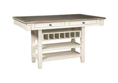 Bolanburg Antique White Rectangular Dining Room Counter Table