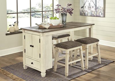 Image for Bolanburg Antique White Rectangular Dining Table w/4 Upholstered Stools