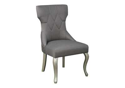 Image for Coralayne Silver Finish Dining Upholstered Side Chair (Set of 2)