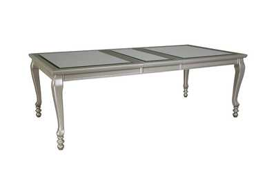 Image for Coralayne Silver Finish Rectangular Dining Room Extension Table