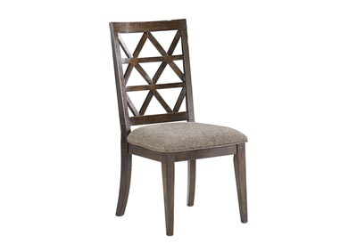 Devasheen Brown Dining Upholstered Side Chair (Set of 2)