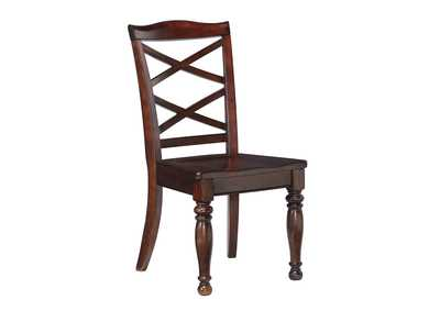 2 Porter Rustic Brown Upholstered Dining Chairs