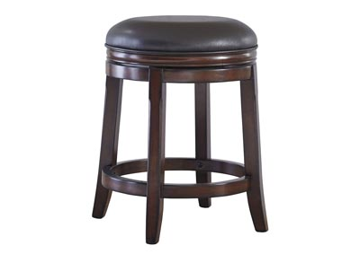 Porter Rustic Brown Upholstered Swivel Stool (Set of 2)