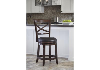 Upholstered Swivel Barstool (Set of 2)