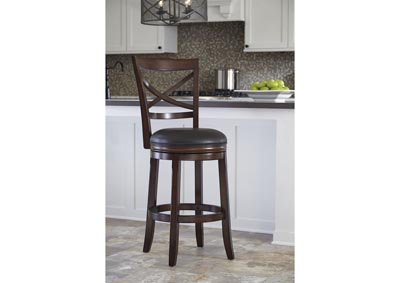 Tall Upholstered Swivel Barstool(Set of 2)