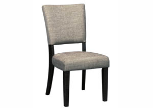 Zurani Brown/Black Dining Upholstered Side Chair (Set of 2)