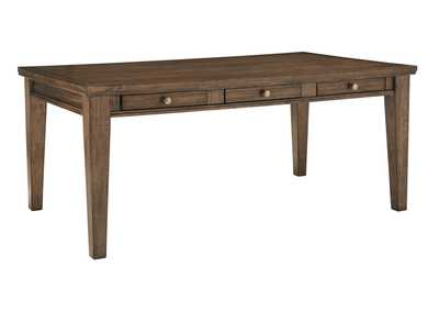 Flynnter Medium Brown Rectangular Dining Room Table