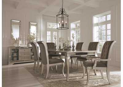 Birlanny Silver Dining Room Table w/4 Side Chairs & 2 Arm Chairs
