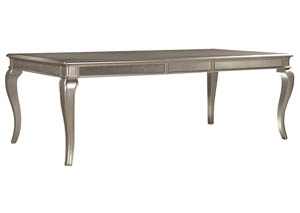 Birlanny Silver Rectangular Extension Dining Table