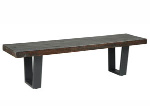 Parlone Dark Brown Large Dining Bench