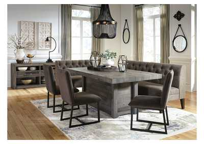 Tripton Medium Brown Large Upholstered Dining Room Bench,Signature Design By Ashley