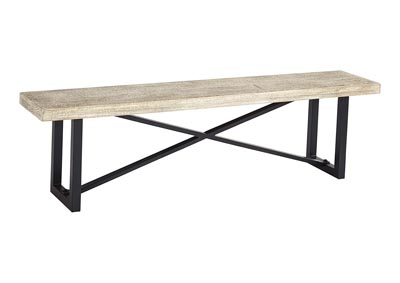 Halamay Gray Dining Bench