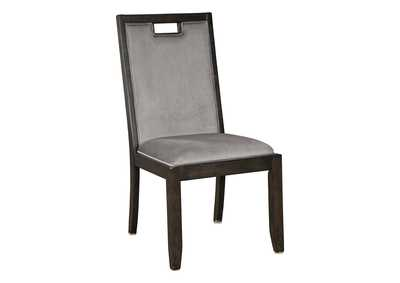 Hyndell Gray/Dark Brown Dining Chair (Set of 2)