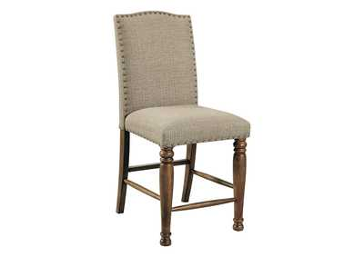 Image for Lettner Gray/Brown Bar Stool (Set of 2)