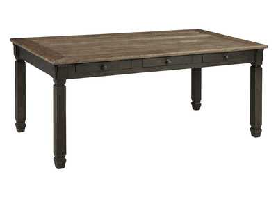 Tyler Creek Black/Grayish Brown Rectangular Dining Room Table