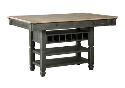 Tyler Creek Black/Gray Rectangular Dining Counter Height Table