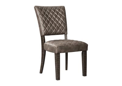 Baylow Black Upholstered Dining Side Chair (2/CN)
