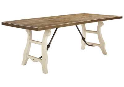 Dazzelton Brown/White Dining Table